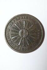ARGENTINA 2 CENTAVOS 1854 CONFEDERATION SHARP DETAILS B32 #K6574