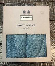 Hunter Original Boot Socks Sz L Pale Mint Glitter Sparkle NEW