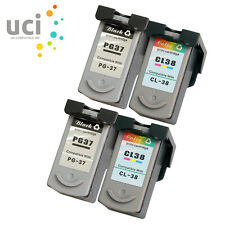 2 Set Ink Cartridge for Canon PG37 CL38 Pixma iP1800 iP1900 iP2500 iP2600 MP140