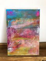 Original Abstract Acrylic Painting Turner Style A4. Jennifer Day. FineArt Signed