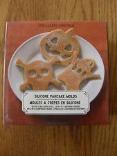 Set 3:Williams Sonoma Silicone Halloween Pancake Molds-Skull,Pumpkin,Ghost-New