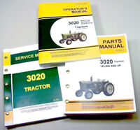 SERVICE MANUAL SET FOR JOHN DEERE 3020 TRACTOR PARTS OPERATORS OWNER TECH REPAIR