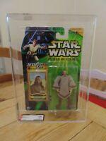 Star Wars Power of the Jedi Qui-Gon Jinn Green Card AFA not CAS UKG