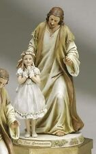 Jesus with Praying First Communion Girl Collectible Figure