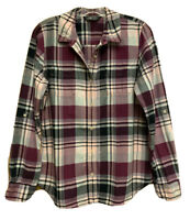 The North Face Womens Long Sleeve Button-up Plaid Flannel Shirt Size Large