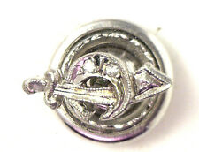 Antique Victorian 14k White Gold MASONIC Mason Diamond Lapel Pin #N935