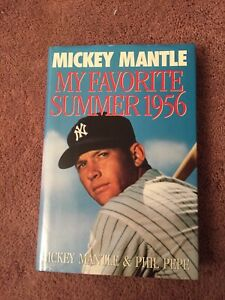 """MY FAVORITE SUMMER 1956"" Mickey Mantle Book 1st Edition HC/DJ MINT 2nd Print"