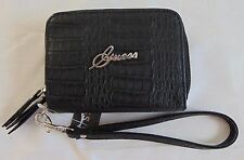 AUTHENTIC NWT GUESS BLACK WOMEN CELLPHONE CASE WALLET                   (A0227)
