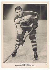 1939-40 O-Pee-Chee V301-1 Wilfy Field # 64 New York Americans (5 x 7 card) Ex