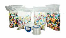 4000 Bead Kit Pony & Full Alphabet Letter Beads + (2) 128 Ft String Kid Art Gift
