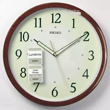"Analog Modern Wall Clock 12"" Quartz Accurate Non-Ticking Home Decor Living Room"
