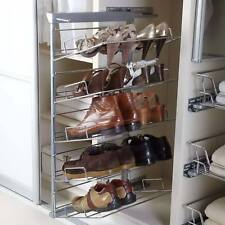 Pull out Shoe Rack 5 Tier Soft Close Chrome and Silver