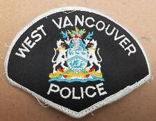 "West Vancouver Police Cloth Shoulder Patch Crest size 3"" X 4 1/2"""