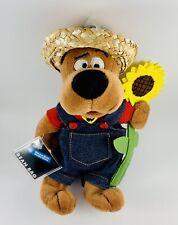 "2000 Nwt Scooby Doo 9"" Bean Bag Plush Farmer & Sunflower Wb Studio Store"