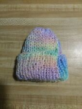 Handmade Multi Colored Yarn Newborn Baby Girl Hat