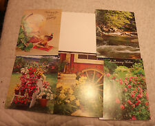 ASSORTED VARIOUS LANDSCAPE NATURE GREETING CARDS & ENVELOPES LOT OF 5