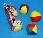 LOT DE 3 Balles a jongler 5 cm multicolore MAGIE JONGLERIE KERMESSE JOUETS LG £