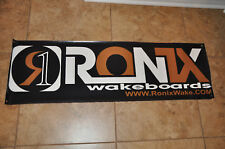 """2011 RONIX BANNER 48"""" * 15""""  Wakeboard With 2 RONIX Stickers Decals"""