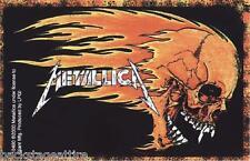 METALLICA FLAMING SKULL JAMES HETFIELD VINTAGE 2000 VINYL STICKER BUMPER-NEW!!