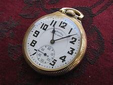 Hamilton 992B 21-jewel 16-size Railroad Pocket Watch, Model 16 Gold Filled Case