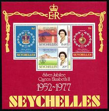 SEYCHELLES Sc #387a MNH 1977 S/S ROYALTY