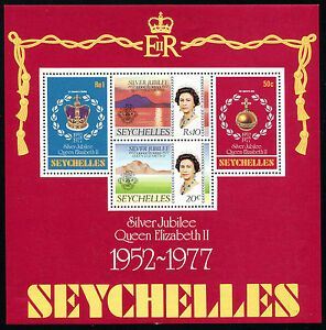 SEYCHELLES, Sc #387a, MNH, 1977, S/S, ROYALTY, Silver Jubilee, A5181750