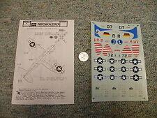 Microscale decals 1/72 72-260 P-47D Bubbletop  K74