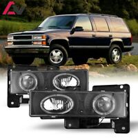 Projector Headlights for 1988-1999 Chevrolet Truck and SUV - Black/Clear