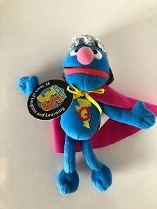 "Sesame Street Super Grover 7"" Plush Toy Original Tag 2004 Gund"