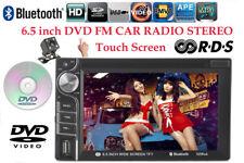 6.5'' 2 Din Bluetooth MP4 Car DVD Touch Screen RDS/FM/AM Remote Control +Camera