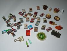 Dollhouse Miniature Food Can Goods Lux Doll Boxed Food Oyster Salmon Beans LOT