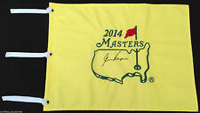 GARY PLAYER SIGNED 2014 AUGUSTA MASTERS GOLF PIN FLAG US OPEN PROOF COA J1