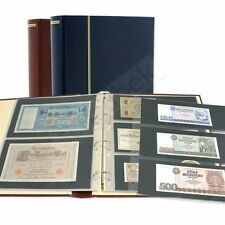 """Banknote Album - Schaubek """"Diplomat"""" - Burgundy Red with 20 banknote stock pages"""