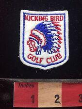 Vtg KICKING BIRD GOLF CLUB Indian Chief KickingBird Jacket Patch Edmond OK 75WJ