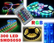 Striscia led smd 5050 300led 5mt strip led rgb bobina led muticolor IP66