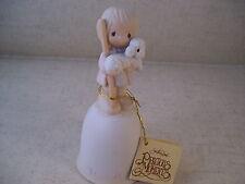 Vintage Precious Moments Bell We Have Seen His Star Johathan & David 1978 Lamb