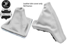 WHITE TOP GRAIN REAL LEATHER GAITER SET FOR VAUXHALL OPEL ASTRA MK5 H 2004-2009