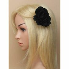 Black Rose Flower Hair clip Hair Styling Dressing Up Gothic Halloween Parties