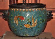 New listing Chinese bronze Cloisonne foo dog lion beast head Incense burner Censer pot jar