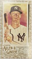 2020 Topps Allen & Ginter Mini DJ LeMAHIEU #80 Gold Border New York Yankees