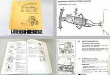 Liebherr HS852 HD Bagger Werkstatthandbuch Reparaturhandbuch 2 Bände