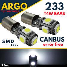 2 X LED + BULB HOLDER BA9S LLB233 GLB989 GLB233 T11 T4W 233 5SMD MG MGB TRIUMPH