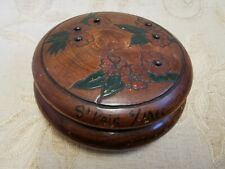 Vintage French Wooden Jewellery Box