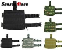 9 Color Tactical Molle Camo Drop Leg Panel Utility Thigh Hunt Pouch Outdoor Bag
