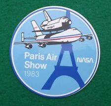 1983 Paris Airshow NASA Space Shuttle Carrier 747 Jet Aircraft Sticker Decal