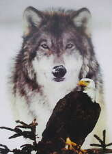 Wolf with Eagle 2