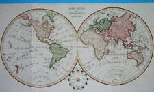 1826 RARE ORIGINAL MAP WORLD UNITED STATES FLORIDA NEW YORK CANADA AUSTRALIA