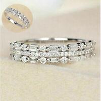 Engagement Women Gemstone Birthstone Silver Wedding Wholesale Ring 925 Diamond