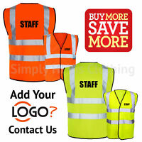 Crowd Control Pre Printed Hi Vis Safety Vest Hi Viz Waistcoat EN ISO 20471 ...