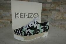 KENZO Gr 38,5 Plateau Sneakers Schnürschuhe Schuhe Shoes neu multicolor UVP 350€
